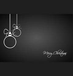 christmas greeting card with simple balls vector image