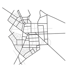 city map - scheme of roads vector image