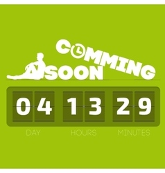 Comming soon with countdown timer vector image