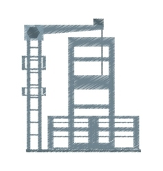 drawing building construction structure steel vector image