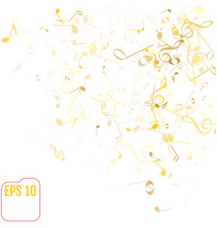 falling notes background frame of treble clefs vector image