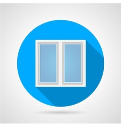 Flat icon for white frame window vector image vector image