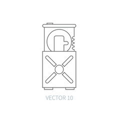 Flat line computer part icon - optical vector