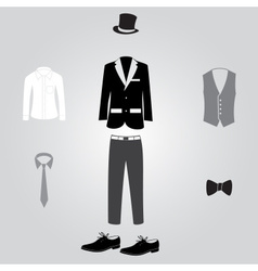 Formal suits and clothing eps10 vector
