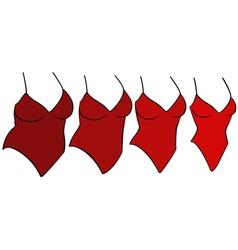 Four female swimwear different sizes vector