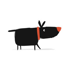 Funny dog sketch for your design vector