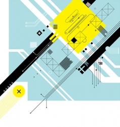 futuristic digital background vector image vector image