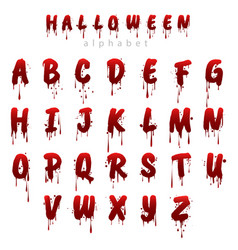 halloween bloody alphabet i vector image