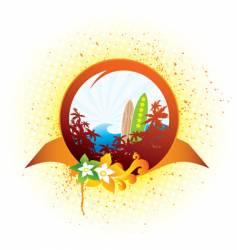 hawaii emblem vector image vector image
