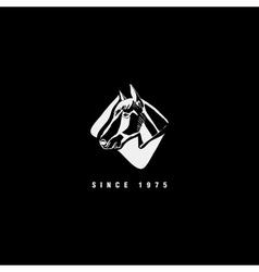 Logotype emblem sign symbol insignia of horse head vector