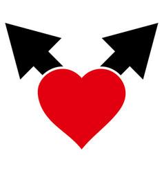 Love variant arrows icon vector