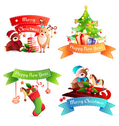 new year cartoon concept vector image vector image