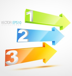 numbered arrows vector image