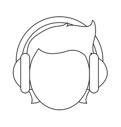 person with headphones icon image vector image vector image