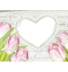 Pink fresh spring flowers background eps 10 vector