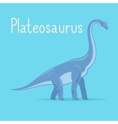 Plateosaurus dinosaur card vector