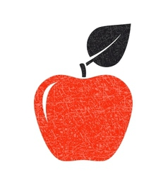 Red texture apple vector