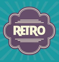 Retro frame icon vector