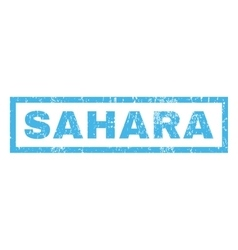 Sahara rubber stamp vector