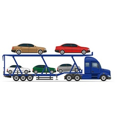 Semi truck trailer concept 13 vector
