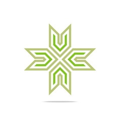 Symbol hospital plus medical icon abst vector