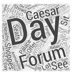 The forum shoppes at caesars palace word cloud vector