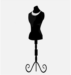 vintage mannequin vector image vector image