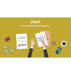 vwap volume weighted average price concept with vector image vector image