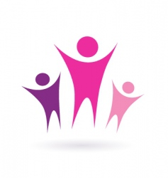 women group community icon vector image