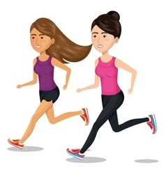 women running characters icon vector image vector image
