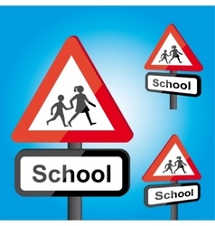 Traffic school roadsign vector