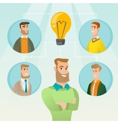 Businessmen discussing business ideas vector