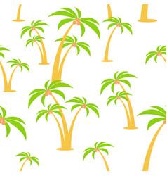 Cartoon flat seamless pattern palm trees vector