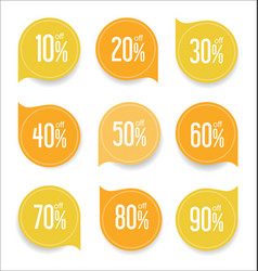Modern offer sale yellow tag isolated vector