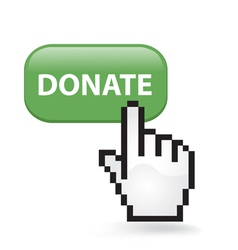 Donate button vector