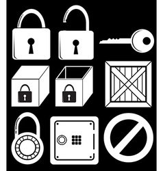 Locking devices vector