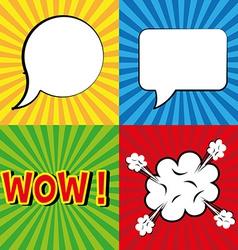 Pop art design vector image