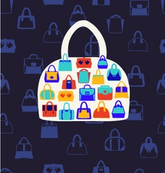 Set icons of women bags vector