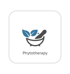 Phytotherapy icon flat design vector