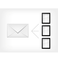 mail concept tablet pc vector image