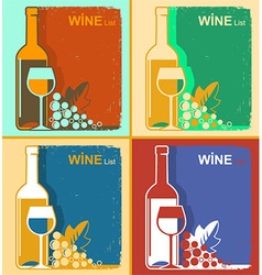 Vintage wine cards backgrounds for text vector