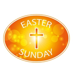 Easter sunday banner with cross vector
