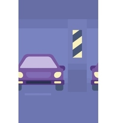 Background of car shop vector image