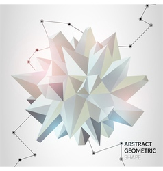 Abstract geometric shape vector image