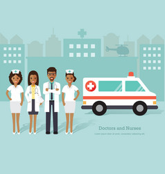 african doctors and nurses medical staff vector image vector image