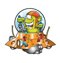 alien ufo vector image