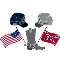 American civil war vector