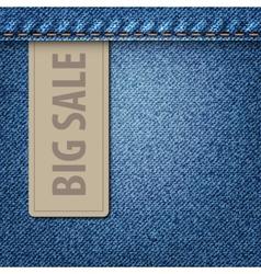 Big sale jeans background vector