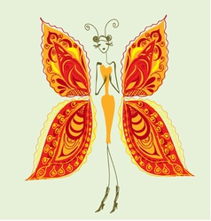 Butterfly the woman of fashion3 vector