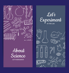card or flyer template with science or vector image vector image